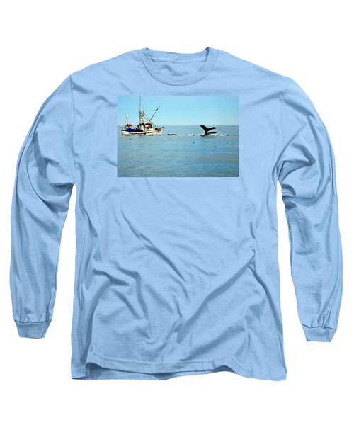 Whale Watching Moss Landing Series 26 Long Sleeve T-Shirt by Antonia Citrino