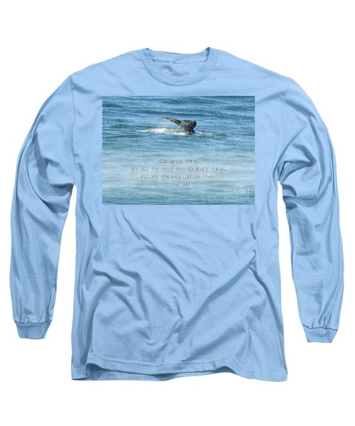 Long Sleeve T-Shirt featuring the photograph Whale's Tail by Peggy Hughes