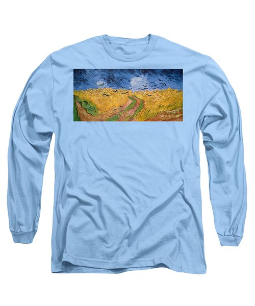 Wheatfield With Crows Long Sleeve T-Shirt