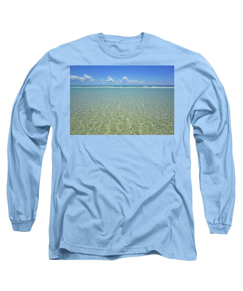 Where Crystal Clear Ocean Waters Meet The Sky Long Sleeve T-Shirt