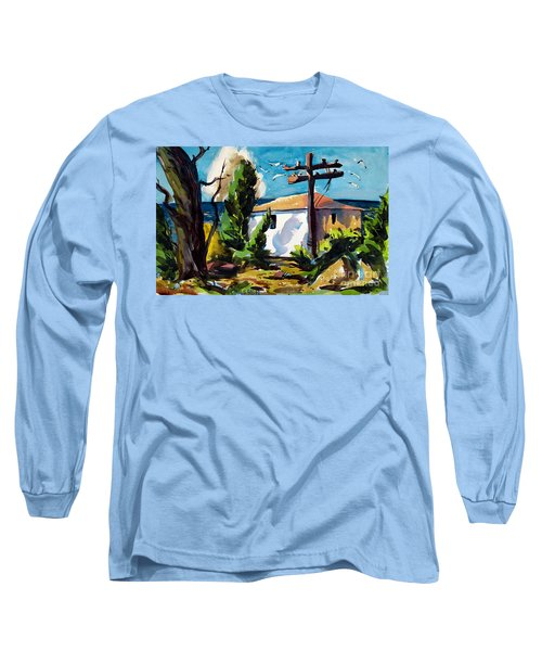 Long Sleeve T-Shirt featuring the painting Where I Will Be Double Matted And Plexi-glass Metal Framed by Charlie Spear