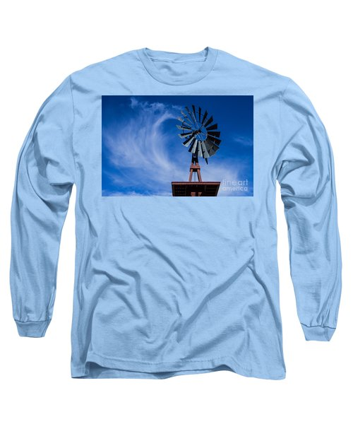 Whipping Up The Clouds Long Sleeve T-Shirt by Steven Parker