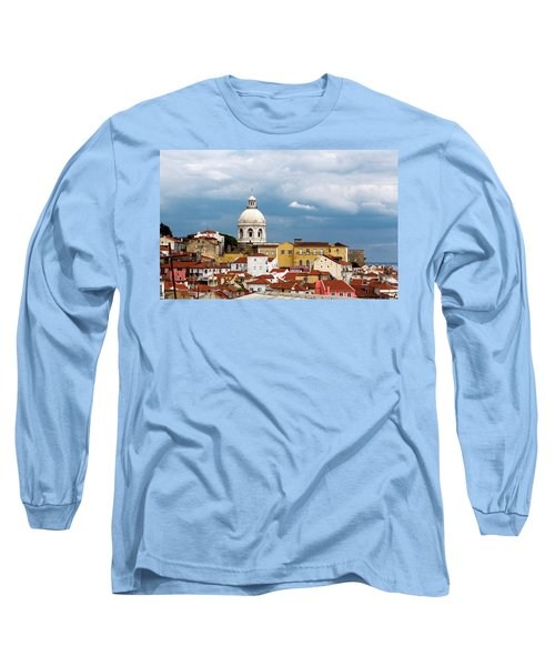 Long Sleeve T-Shirt featuring the photograph White Dome Against Blue Sky by Lorraine Devon Wilke