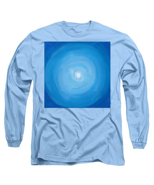 White Dot In Sea Of Blue Long Sleeve T-Shirt