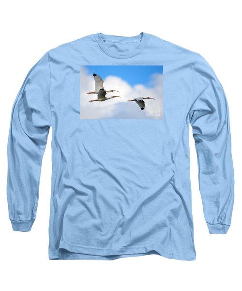 White Ibis Flock Long Sleeve T-Shirt