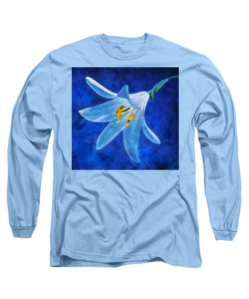 White Lilly Long Sleeve T-Shirt by Ian Mitchell
