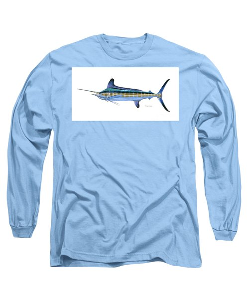 White Marlin Long Sleeve T-Shirt