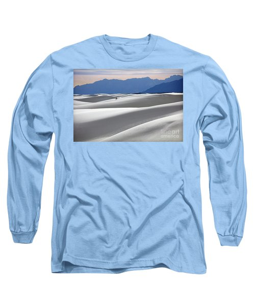Long Sleeve T-Shirt featuring the photograph White Sands Hikers by Martin Konopacki
