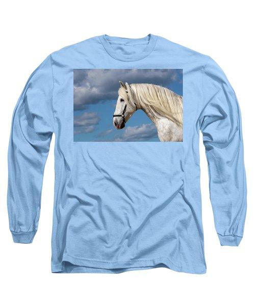 White Stallion Long Sleeve T-Shirt