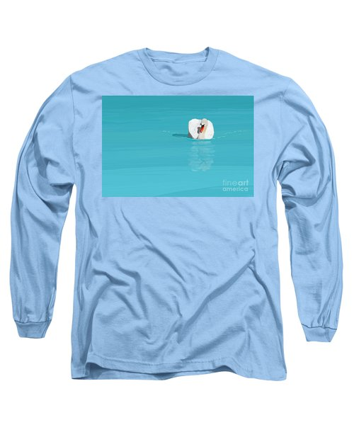 White Swan Blue Lake Long Sleeve T-Shirt