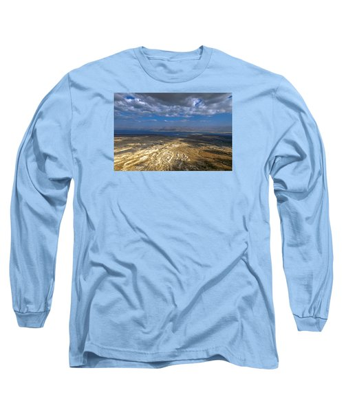 Wide View From Masada Long Sleeve T-Shirt by Dubi Roman