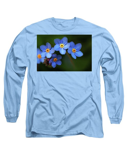 Wild Flower Forget-me-not Since The Middle Ages Symbolizes The Celestial Eye And Reminds You Of God Long Sleeve T-Shirt