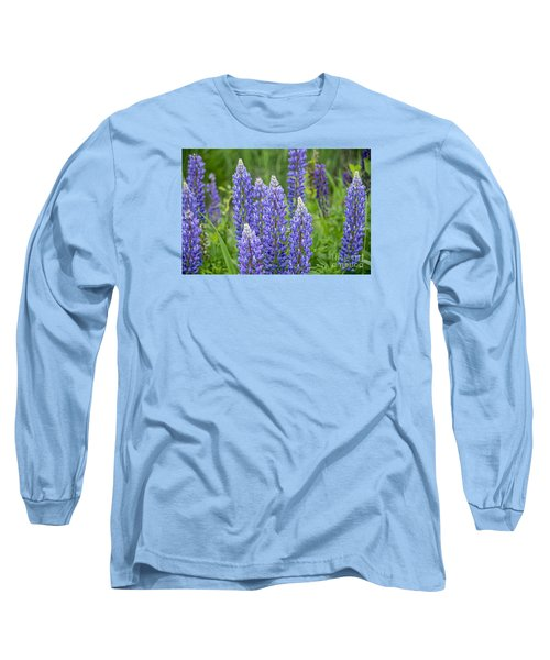 Long Sleeve T-Shirt featuring the photograph Wild Lupine by Alana Ranney