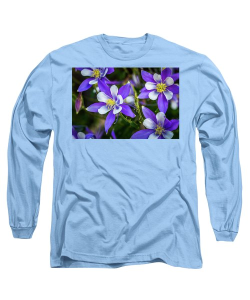 Wildflowers Blue Columbines Long Sleeve T-Shirt