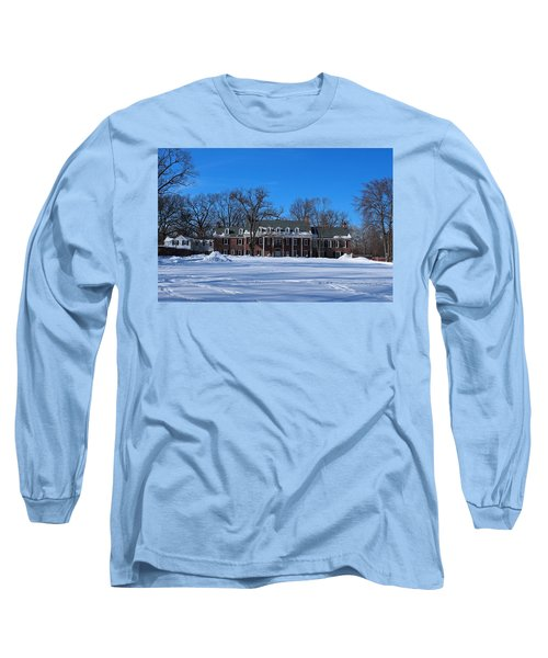 Wildwood Manor House In The Winter Long Sleeve T-Shirt