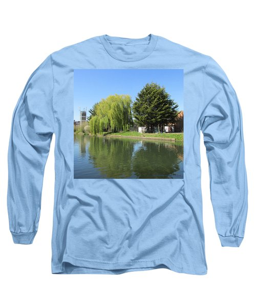 Long Sleeve T-Shirt featuring the photograph Jessica Willow Likes David Pine - Grand Union Canal - Park Royal  by Mudiama Kammoh
