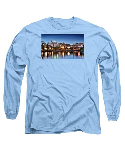 Wilmington Delaware Long Sleeve T-Shirt by Brendan Reals