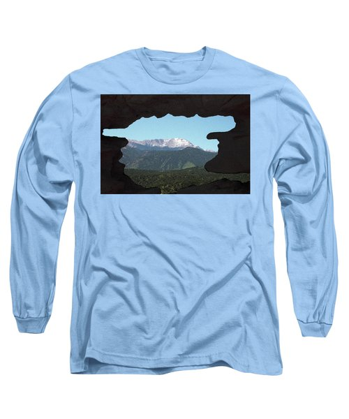 Window To Pikes Peak Long Sleeve T-Shirt