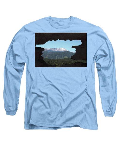 Window To Pikes Peak Long Sleeve T-Shirt