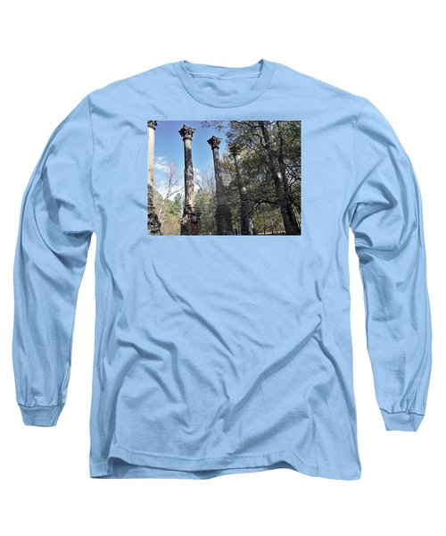 Windsor Ruins Long Sleeve T-Shirt by Helen Haw