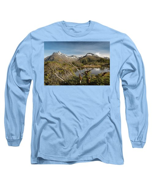 Long Sleeve T-Shirt featuring the photograph Windswept Branches On Key Summit by Gary Eason