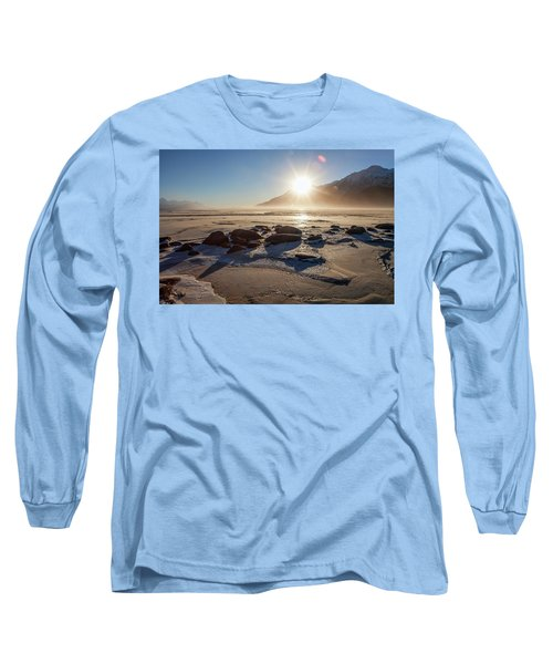 Windy Winter Sunset Long Sleeve T-Shirt