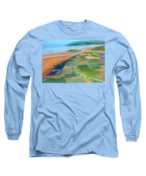 Wings Over Grand Pre' Long Sleeve T-Shirt by Rae  Smith
