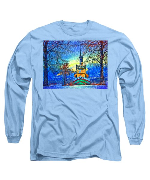 Winter And The Tug Boat 2 Long Sleeve T-Shirt