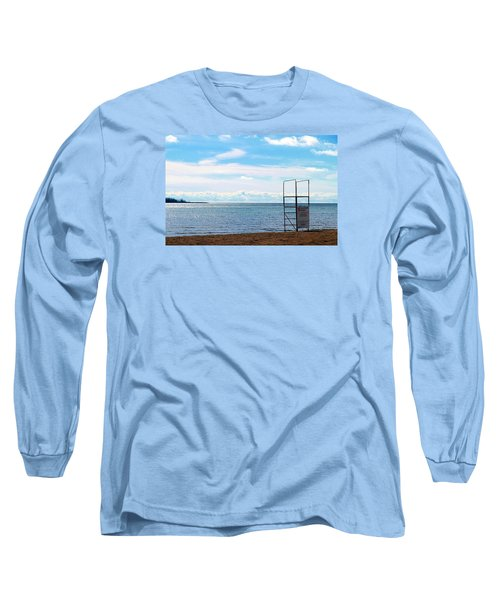 Long Sleeve T-Shirt featuring the photograph Winter Beach by Valentino Visentini
