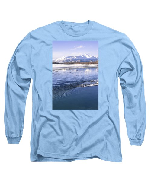 Long Sleeve T-Shirt featuring the photograph Winter Blues by Michele Cornelius