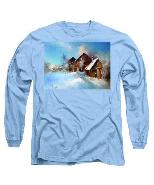 Winter Cortyard Long Sleeve T-Shirt
