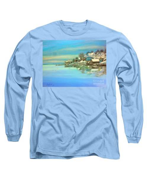 winter in Chester ,Nova Scotia  Long Sleeve T-Shirt by Rae  Smith PAC