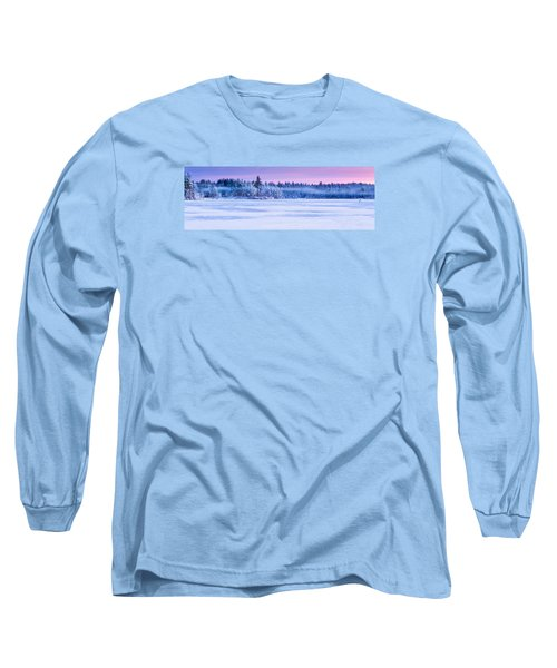 Winter Mist Baxter Lake New Hampshire Long Sleeve T-Shirt