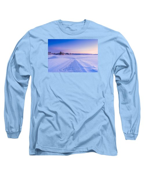 Winter Morning Baxter Lake Nh Long Sleeve T-Shirt