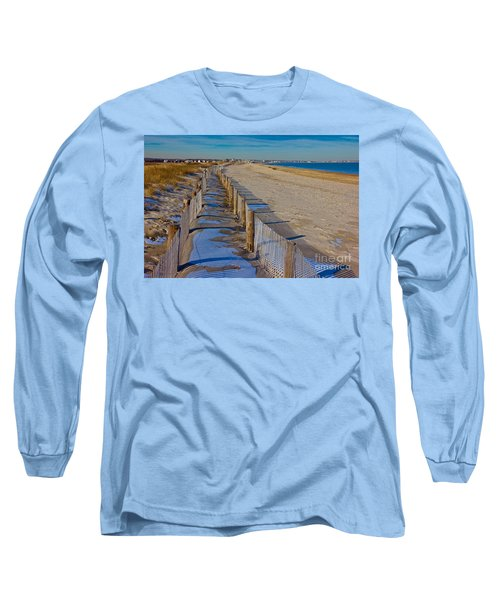 Long Sleeve T-Shirt featuring the photograph Winter On Duxbury Beach by Amazing Jules