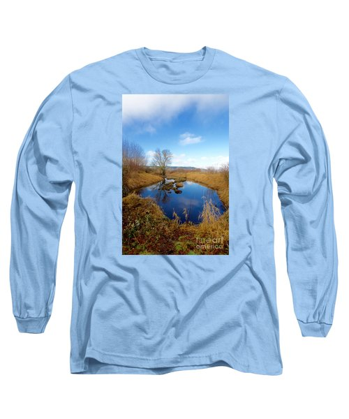 Winter Pond Long Sleeve T-Shirt by Sean Griffin