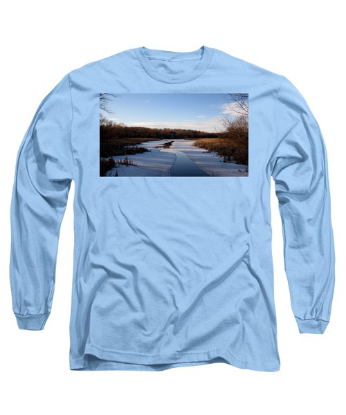 Long Sleeve T-Shirt featuring the photograph Winter Waters At Lake Kegonsa by Kimberly Mackowski