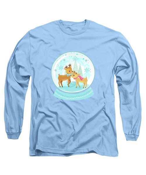 Winter Wonderland Snow Globe Long Sleeve T-Shirt
