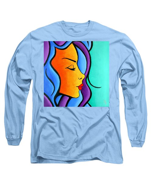 Woman Of Color, Eyes Closed Long Sleeve T-Shirt