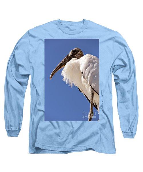 Wonderful Wood Stork Long Sleeve T-Shirt by Carol Groenen