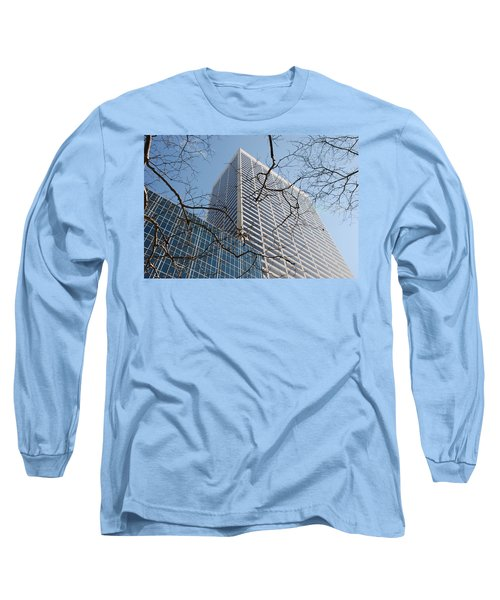 Long Sleeve T-Shirt featuring the photograph Wood And Glass by Rob Hans