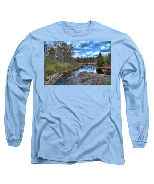 Woodhull Creek In May Long Sleeve T-Shirt