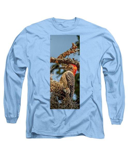 Woodpecker Closeup Long Sleeve T-Shirt