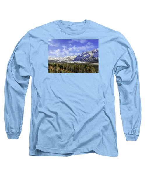 Wrangell Mountains Glacier Alaska Long Sleeve T-Shirt