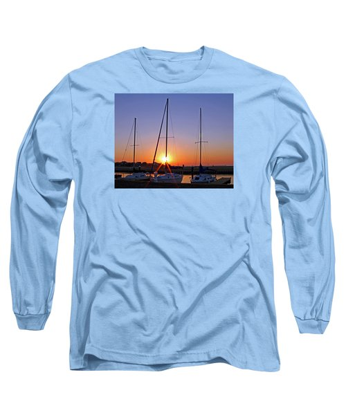 Long Sleeve T-Shirt featuring the photograph Yacht Club Sunrise by Judy Vincent