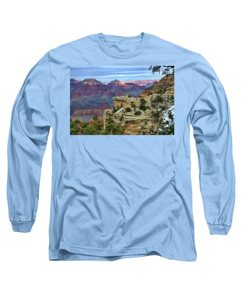 Yavapai Point Sunset Long Sleeve T-Shirt by Diana Mary Sharpton