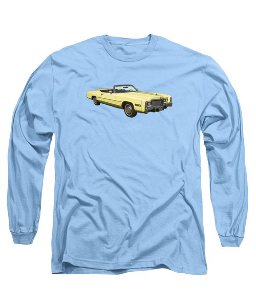Yellow 1975 Cadillac Eldorado Convertible Long Sleeve T-Shirt by Keith Webber Jr