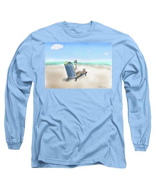 Yellow Bird Beach Selfie Long Sleeve T-Shirt