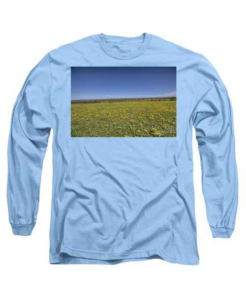 Yellow Blanket II Long Sleeve T-Shirt by Douglas Barnard