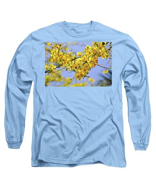 Yellow Blossoms Long Sleeve T-Shirt